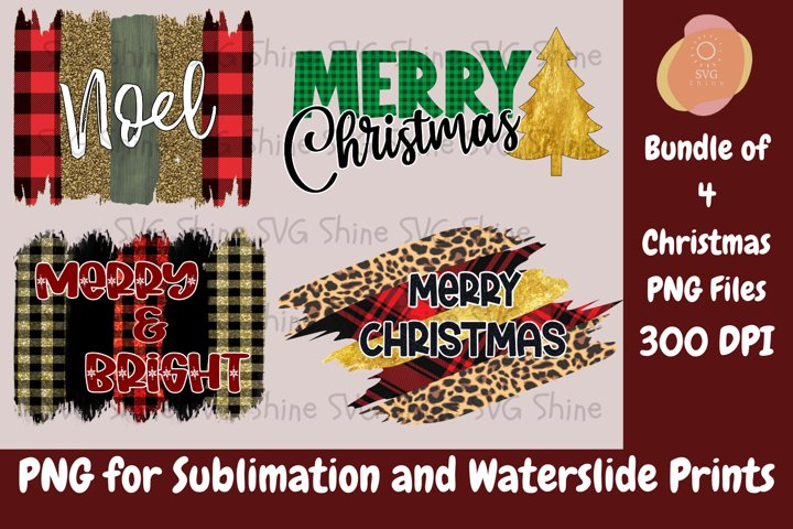 Christmas Sublimation Design PNG File Bundle, Holiday XMAS P