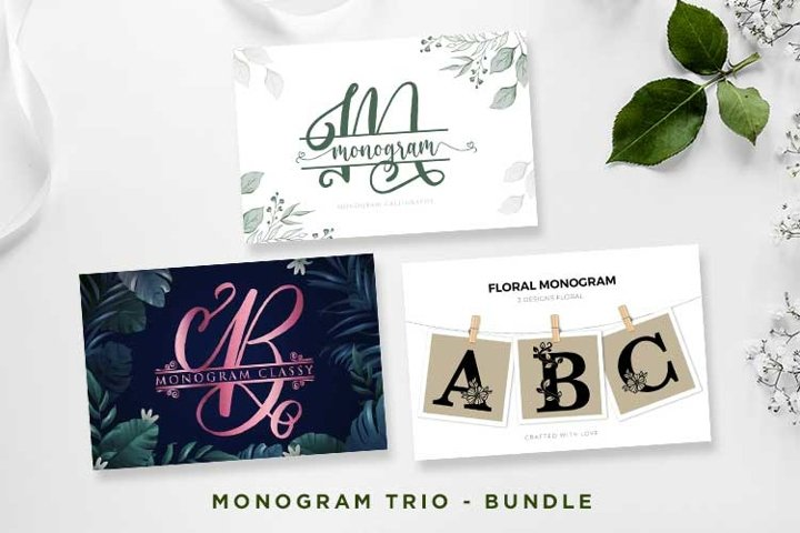 Monogram Font Trio - Bundle