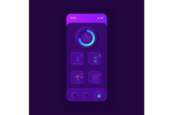 Automated home application smartphone interface template