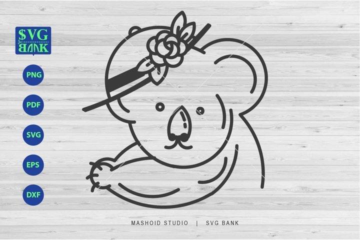 Koala SVG, Funny Koala, Cute Koala Cut file