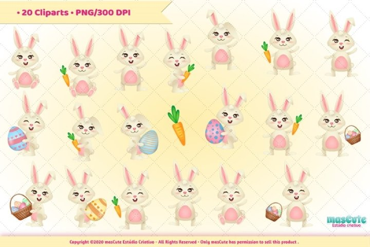 Easter clipart, Easter Bunny graphics & illustrations example 1