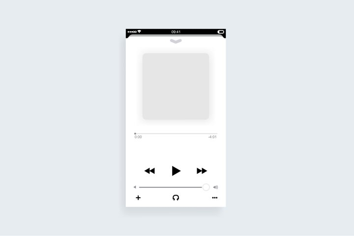 Mobile music player app