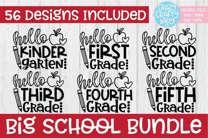 Big School SVG DXF EPS PNG Cut File Bundle