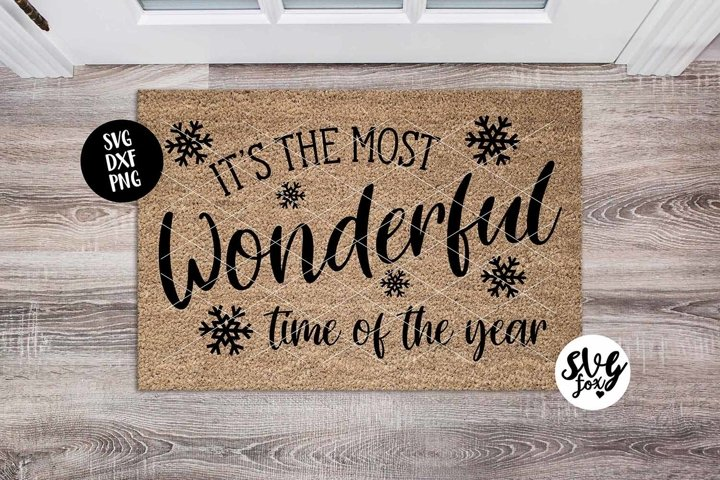 Its The Most Wonderful Time Of The Year Christmas Doormat
