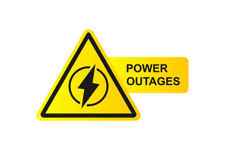 Power outage symbol icon