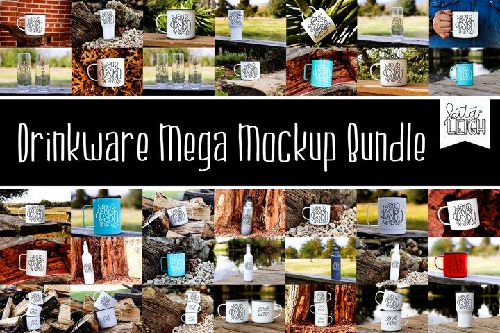 Drinkware Mega Mockup Bundle- 35 mockups included!