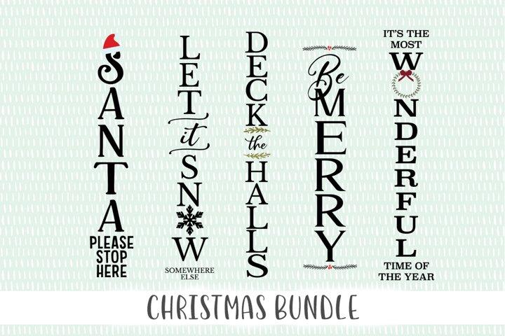 Christmas SVG Bundle - Verticle Porch Sign SVGs