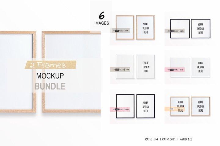 2 Frames Mockup Bundle | Vertical and Square Frame Mockups