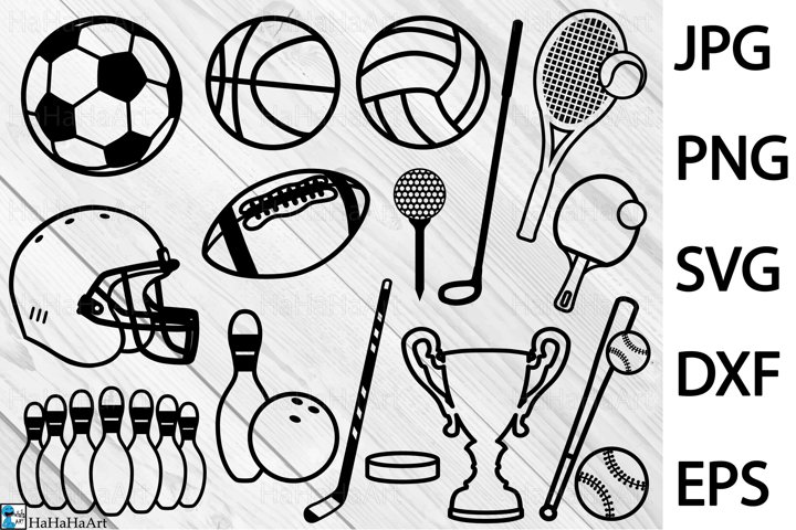 Sport Equipment - Clip art / Cutting Files 410c