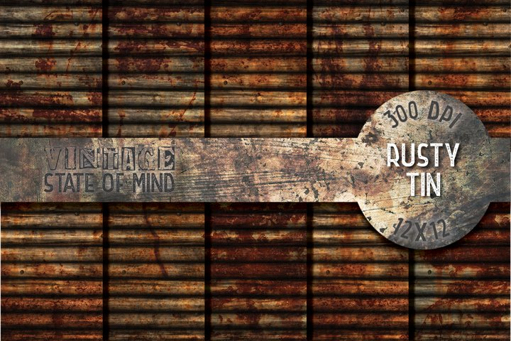 Rusty Tin Digital Papers