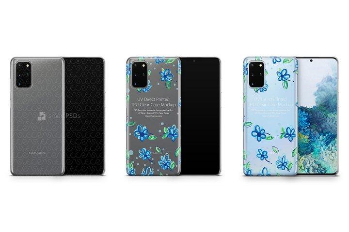 Galaxy S20 Plus 2020 TPU Clear Case Mockup