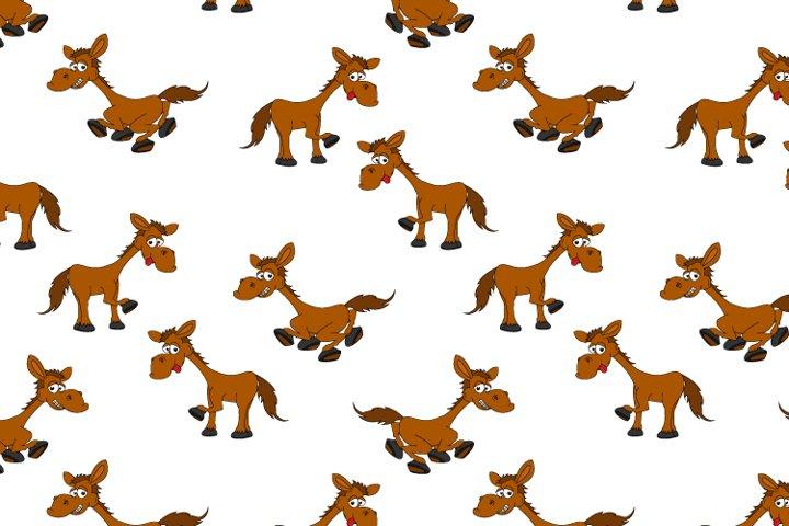 cute horse cartoon pattern