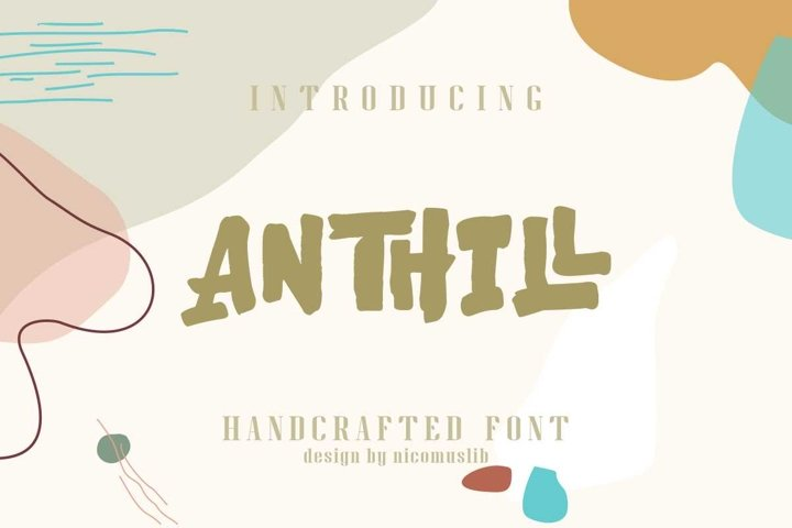 ANTHILL || natural hand-crafted font