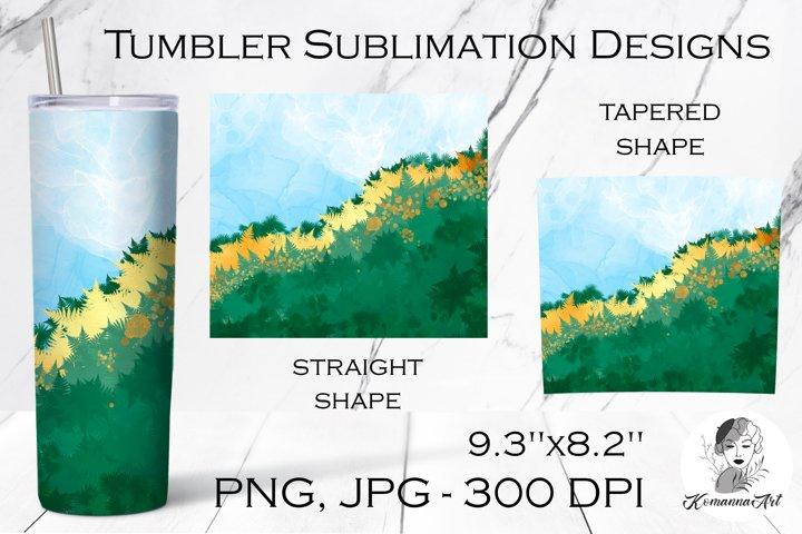 Spring Tumbler Sublimation Design / Skinny Tumbler for 20oz