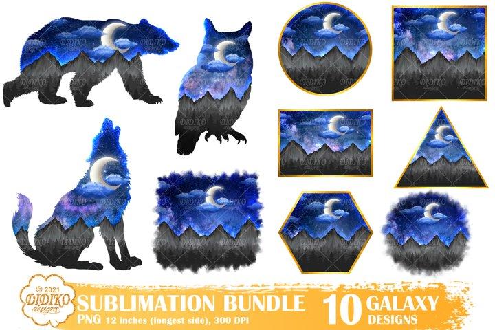 Sublimation Bundle, Sublimation Background, Wolf Bear Owl