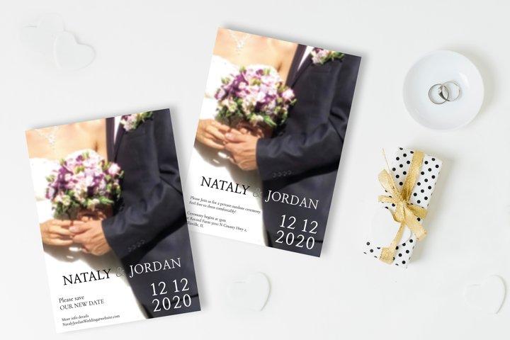 Classic Wedding Invitation & Save The Date