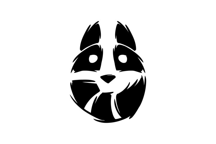 Raccoon logo illustration.