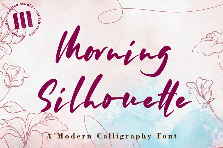 Morning Silhouette - A Modern Calligraphy Font