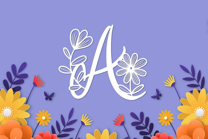 Monogram Daishy - Free Font Of The Week Design0