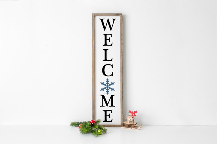 Farmhouse Christmas Sign - Welcome SVG