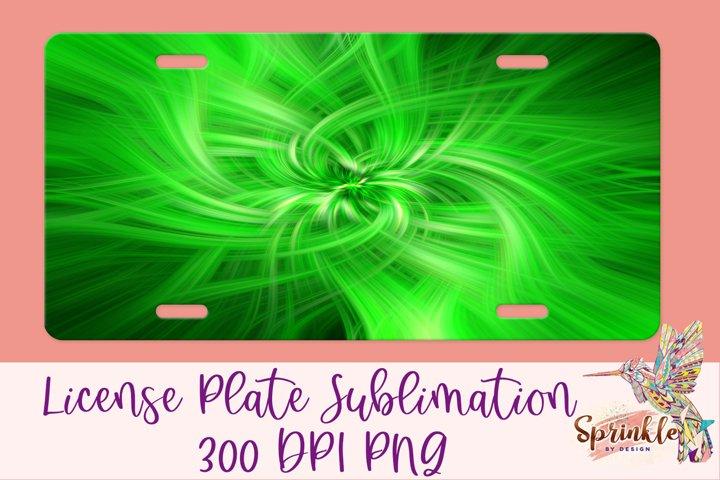 Green Spirals License Plate Sublimation