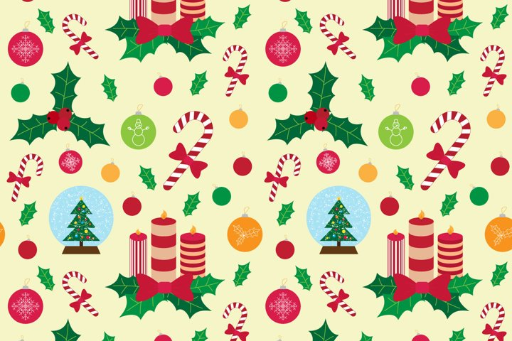 Christmas pattern and elements