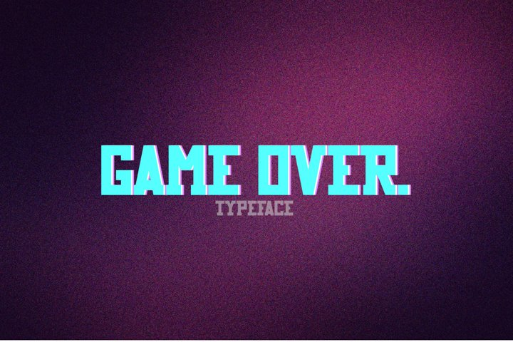 Game Over typeface
