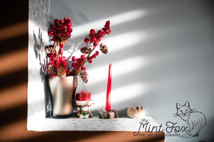 Christmas Decor Stock Photo, Red Christmas Decoration