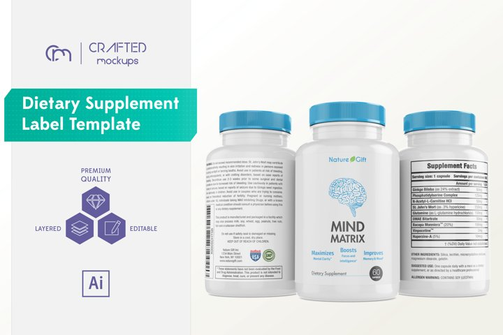 Dietary Supplement Label Template