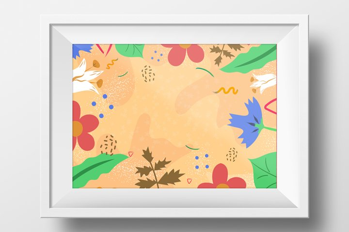 Summer meadow. Hand drawn abstract floral background.