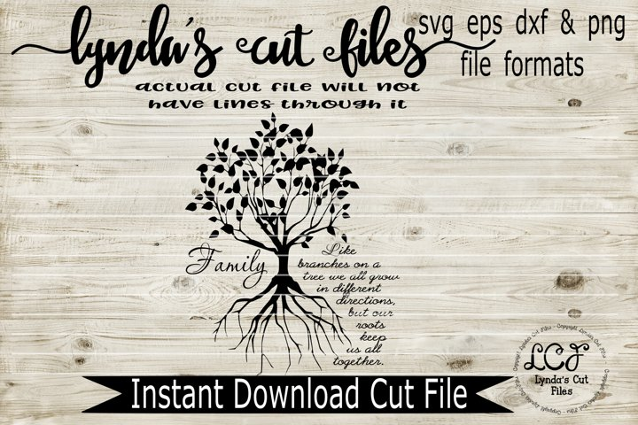 Family Tree//SVG/EPS/DXF File