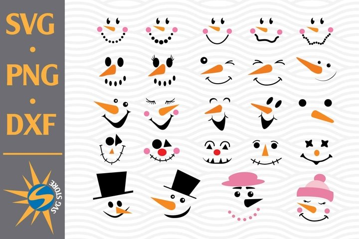 Snowman Face SVG, PNG, DXF Digital Files Include