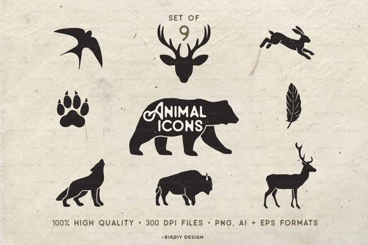Rustic Animal Icons & Illustrations