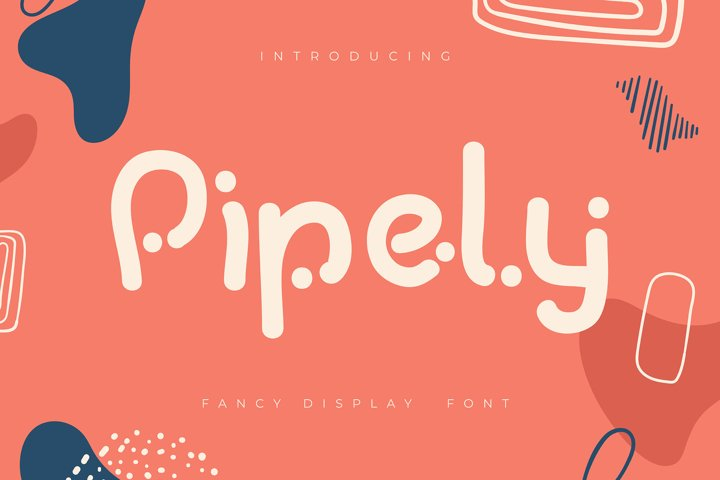 Pipely | Fancy Display Font
