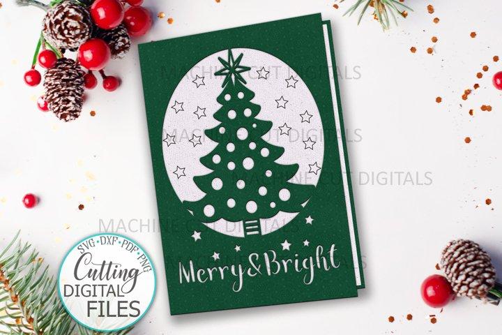 Christmas card papercut svg laser cut cricut template