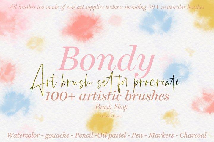 100 plus artistic brushes for Procreate