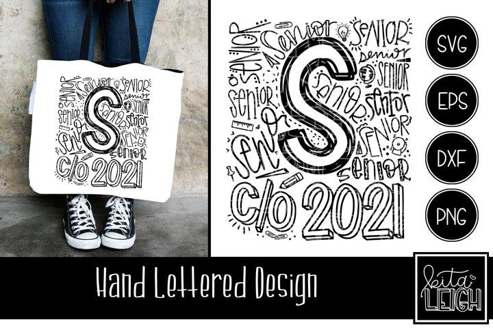 Senior Class of 2021 Typography SVG