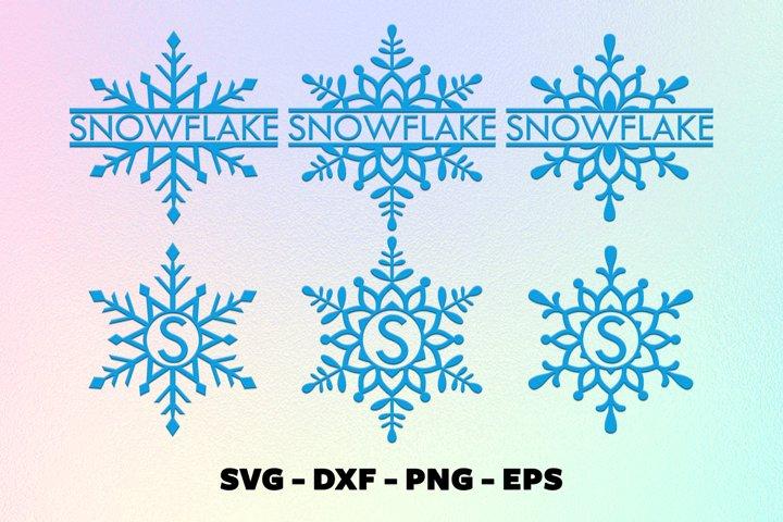 Snowflake svg bundle Christmas snowflake monorgam frame svg