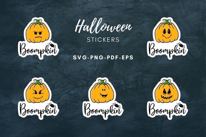 Halloween pumpkin stickers Fall stickers Print & Cut SVG|PNG