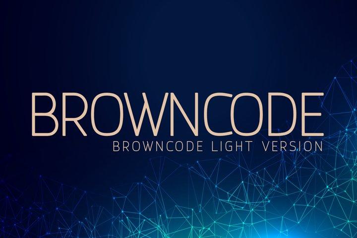 Browncode Light Versionl Elegant font sans serif