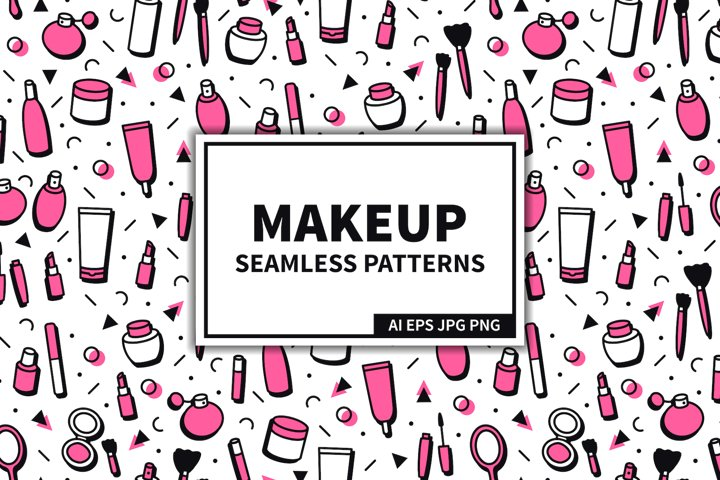 Makeup & Cosmetics Seamless Patterns