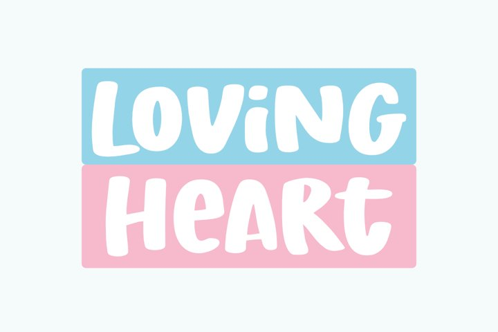 Loving Heart - a Fun Display Font