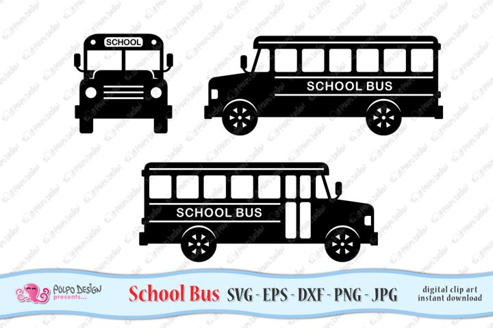 School Bus SVG, Eps, Dxf, Png, Jpg