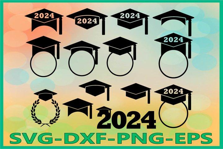 Graduation 2024 SVG, Graduation Hat, Graduation Caps