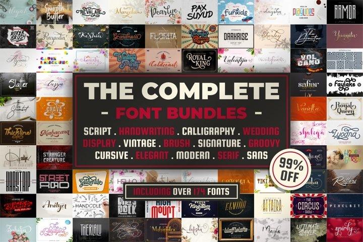 174 Font!! The Complete Font Bundles!