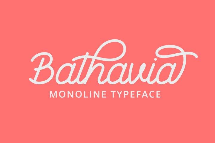 Bathavia Monoline Script