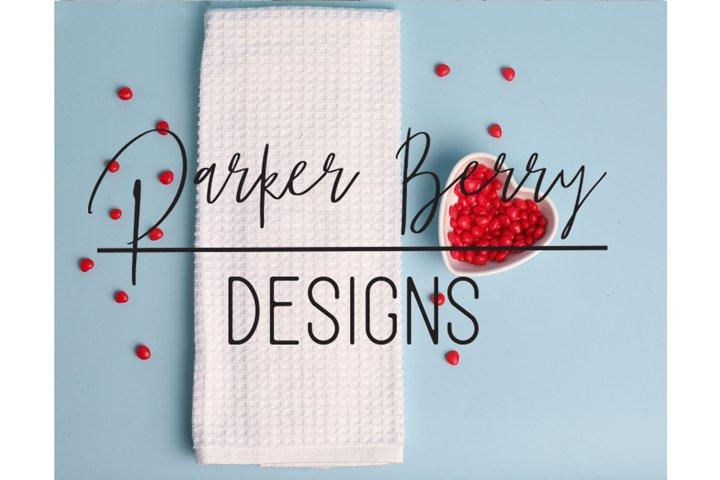Valentines Flour Sac Towel Mockup