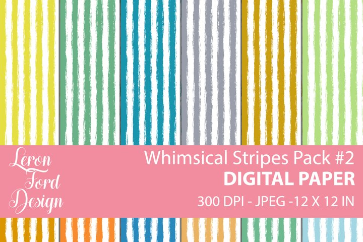 Whimsical Stripes Pack #2 Digital Paper