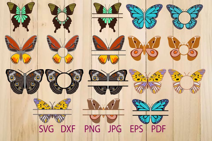 Butterflies SVG, Butterfly Monogram Frame