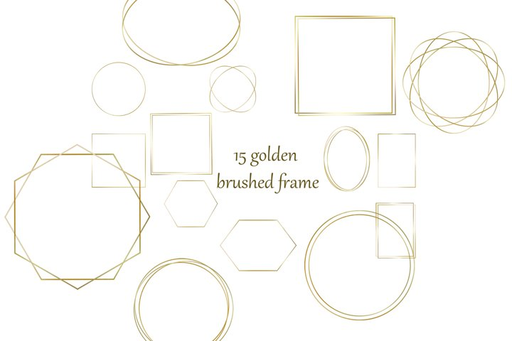 golden brushed frame Clipart PNG